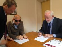 Firma  Convenzione con l'Università telematica UNITELMA SAPIENZA